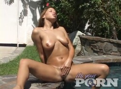 Haley Paige Masturbates Outdoors
