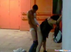 Voyeur Tapes A Couple Having Doggystyle Sex