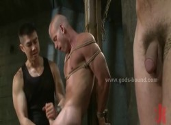 Sexy gay boys forced to suck then get spanked and tied hard before getting fucked