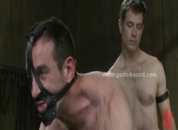 Gay boy sex slave tied and prepared by sex master for extreme bondage sex