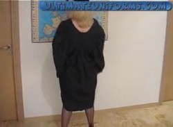 Strict English SchoolTeacher In Black Stockings And Stiletto High Heels